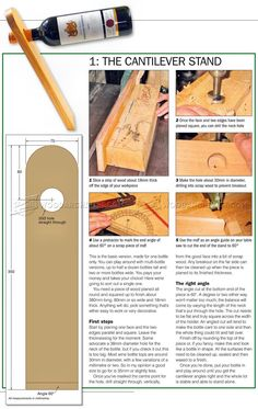 #1205 Wine Bottle Holder Plans - Other Woodworking Plans and Projects Wood Projects That Sell, Small Wood Projects, Woodworking Projects That Sell, Woodworking Tips, Popular Woodworking, The Plan, How To Plan, Wine Bottle Holders, Wood Plans