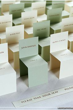 Chair Seating Cards | 37 Things To DIY Instead Of Buy For Your Wedding