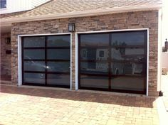 Genial Aluminum Full View Glass Doors Replace The Old Steel Doors. Glass Is An  Acid Etched Tempered With A Brown Anodized Frame.