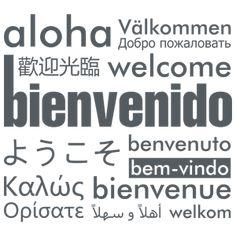 Bienvenido - Welcome- vinilo decorativo Vinilos tipográficos