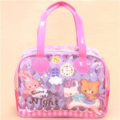 cute pink purple horse bunny star glitter shoulder bag from Japan 1