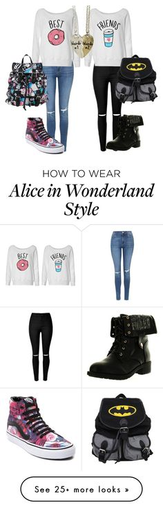 """""""Untitled #58"""" by polyfashion7 on Polyvore featuring Topshop, Vans, Refresh, Disney and bestfriendstyle"""