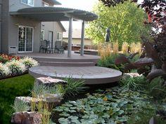 Circular Deck Deck Design Breckon Land Design Inc. Garden City, ID