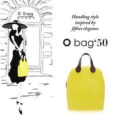 NOVITA'! La nuova it-bag è un ritorno al passato guardando al futuro! Gusto retrò anni '50 e design minimal e unico di #Obag. In edizione limitata in color lime >> http://bit.ly/1LRALaJ Enjoy the new O bag Fifties limited edition! Now in YELLOW LIME. #pickandmatch #madeinitaly #fw15