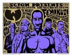 Wu Tang Clan - El Michels Affair - Dj Mel - Dj Haul - Femi Kuti - Raheem Davaughn - Rhythm Room All Stars - Hip Hop Concert Poster