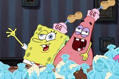 Some might say you're the perfect drinking buddies. 27 Signs You And Your BFF Might Actually Be Spongebob And Patrick Spongebob Best Friend, Best Friends Cartoon, Friend Cartoon, Spongebob Tattoo, Spongebob Memes, Spongebob Squarepants, Cute Cartoon Wallpapers, Cartoon Pics, Spongebob Painting