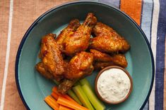Vindaloo Ketchup Wings with Blue Cheese Dip Recipe | Savory Spice Shop