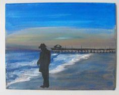 """""""Selfie On Tybee Island"""" By Dimitri Walker 8in by 10in acrylic on canvas"""