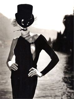 Photo by Helmut Newton for Vogue Italia September 1996.