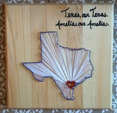 love this idea for his room with the heart on Abilene....b/c that is where he was born