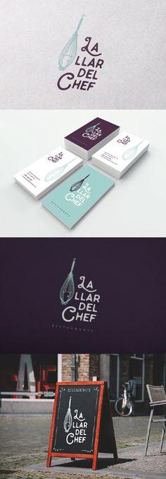 Diseño de imagen para el Restaurante La llar del chef, en Valencia #logotipo #imagencorporativa #branding #diseñografico