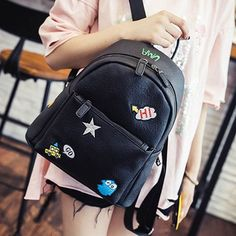 $25.25 (Buy here: https://alitems.com/g/1e8d114494ebda23ff8b16525dc3e8/?i=5&ulp=https%3A%2F%2Fwww.aliexpress.com%2Fitem%2F2016-spring-new-female-bag-quality-pu-leather-women-bag-Korean-version-Mickey-ears-sweet-bow%2F32690462454.html ) Simple Designer Small Backpack Women White Black Gray Travel PU Leather Backpacks Ladies Fashion Female Rucksack Back Bag XA890B for just $25.25