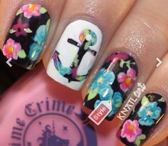 Multi colored nails and designs