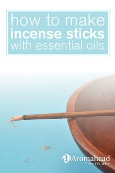 Learn the quick and easy way to make incense sticks with essential oils! I love knowing that my incense is natural and healthy . Incense Cones, Incense Sticks, Homemade Incense, How To Make Incense, Essential Oil Blends, Essential Oils, Burning Incense, Natural Cleaners, Smudge Sticks