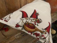 Santa Sack Scandinavian Christmas Gift Bag Holiday by ViViCreative, $12.00