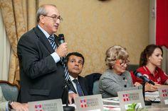 I saluti alla tavola rotonda sul volontariato del presidente del Comitato provinciale di Torino della Croce Rossa