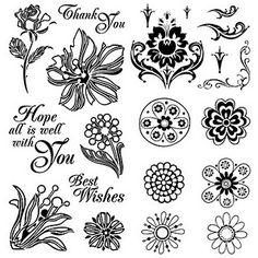 I ♥ {free digi stamps} Inspiration Artistique, Digital Stamps, Digital Scrapbooking, Copics, Flower Cards, Vintage Prints, Embroidery Patterns, Coloring Pages, Colouring