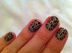 shellac nails glitter