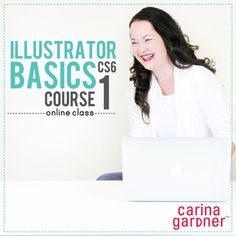 Illustrator Basics Course 1 downloadable self-paced workshop by Carina Gardner available at www.snapclicksupp... #scrapbookworkshop #digitalscrapbooking