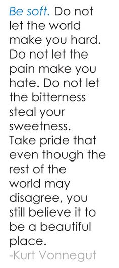 I love this. Yes, a soften heart comes from a life lived in God's love, forgiveness and grace.