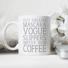 Coffee Mug,Cute Mug, Personalized Mug, Gift for Her, Girly Mug, Preppy Mug, Mother's Day Gift, Bridesmaid Gift by JustAPrettyTypeface on Etsy https://www.etsy.com/listing/228061397/coffee-mugcute-mug-personalized-mug-gift | pinterest : @tileeeeyahx3 ☼