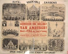 Vauxhall Gardens: The Final Years (1821-1859), Part IV January 29, 2016