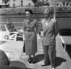 """aboard the yacht Calisto. June 1957 """"this twice divorced woman of low birth with an intermittent career of coquetry behind her"""" was not quite queen material. Royal Prince, Prince Of Wales, Edward Windsor, Wallis Simpson, Edward Viii, Great Love Stories, Play Golf, Well Dressed Men, Queen Elizabeth Ii"""