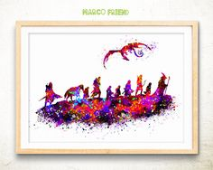 Lord of the Rings watercolor art print poster - The Fellowship print – The Hobbit print - wall art – Office Decor – Birthday Gift – mf370 by MarcoFriend on Etsy