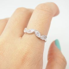 Silver leaf ring, simple ring, vintage ring, cute ring, cool ring, bridesmaid ring, engagement ring, best friends ring, monogram rings,sku500669