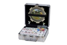 Save $20.00 on NEW Double 12 Mexican Train Numbers Dominoes in Aluminum Case; only $29.99 + Free Shipping