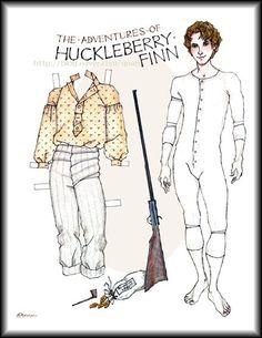 corps pantin :The Adventures of tom & huckleberry : 네이버 블로그 Vintage Paper Dolls, Vintage Toys, Paper Toys, Paper Crafts, Paper Dolls Printable, Paper People, Disney Dolls, Paper Models, Pattern Paper