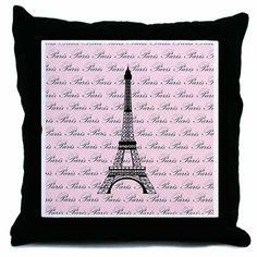 """Light Pink Eiffel Tower Paris Decorative Throw Pillow, 18"""" Beach Bum Kids and Family,http://www.amazon.com/dp/B009RBZIGE/ref=cm_sw_r_pi_dp_-bJMsb1H20BHP6Z0"""