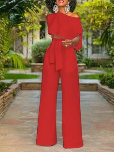 Summer Solid Short Sleeve Casual Two Piece Outfits
