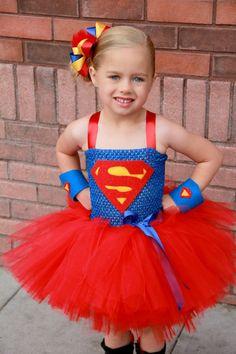 Super girl superhero tutu dress and costume. -- I die.. just a little bit.