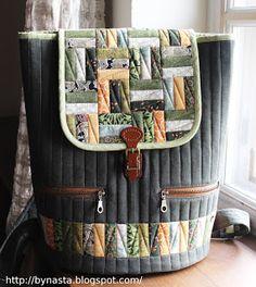Я долго не решалась сшить рюкзак. Оказалось, что это не сложнее, чем сшить сумку :)   Такая модель, выработанная мной на основе предыдущего...