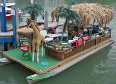 one swanky cool tiki party pontoon boat