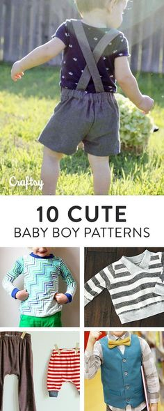 From bloomers to baby booties, this roundup of baby boy sewing patterns is sure to make you swoon. Find your favorites and start sewing today! Did we mention some are FREE?