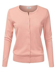 dd3f97cca747c NINEXIS Women s Long Sleeve Button Down Soft Knit Cardigan Sweater at Amazon  Women s Clothing store