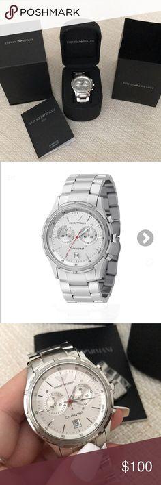 |EMPORIOARMANI| Mens Watch Emporio Armani Chronograph AR 0534 watch w/ brand new battery   Retail price: approx. $200 Selling price: $150 Emporio Armani Accessories Watches