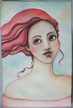 Pennystamper 6 x 9 watercolor