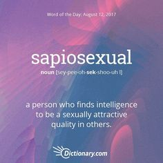 Today's Word of the Day is sapiosexual. #WordOfTheDay #language #vocabulary