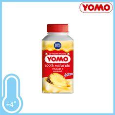 Yogurt da bere con frutta, 100% naturale. Gusto: Ananas. Brick gr.250 a soli € 0,59!