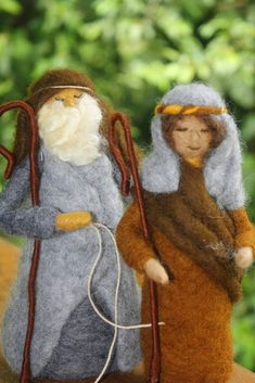 Waldorf inspirado aguja fieltro Natividad por TheMagicalToadstool