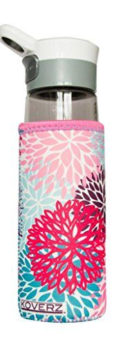 Koverz -  1 Neoprene 24-30 oz Water Bottle Insulator Cooler Coozie - Petals -- Find out more about the great product at the image link.