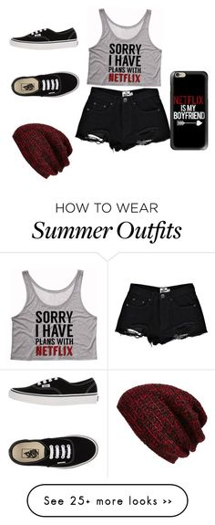 """""""Netflix"""" by magcon0818 on Polyvore featuring Boohoo, Vans, Casetify and King & Fifth Supply Co."""