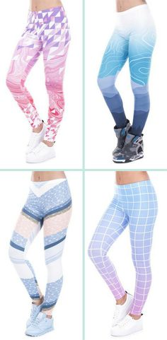 cd7ecf919d FREE SHIPPING - Love These Shades of Color Leggings From Freshiana!  Adorable! Coloured Leggings