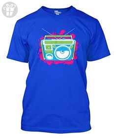 Classic Radio - Rave Splash Design Men's T-shirt (XL, ROYAL BLUE) - Eat sleep repeat t shirts (*Amazon Partner-Link)