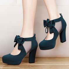 Vintage Bow Platform Sexy High Heeled Shoes New Round Toe Fashion Style Vintage Retro Style Woman Bow Platform Pumps Lady's Sexy High Heeled Shoes Women Sexy High Heels, Frauen In High Heels, Platform High Heels, Womens High Heels, Vintage High Heels, Vintage Shoes Women, Red Platform, Gladiator Heels, Pumps Heels