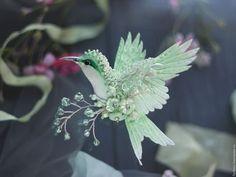 """Броши ручной работы. Ярмарка Мастеров - ручная работа. Купить Брошь птица колибри """"первоцвет"""" - spring collection 2016. Handmade."""