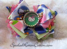 Hello Kitty Rag Bow Hair Clip